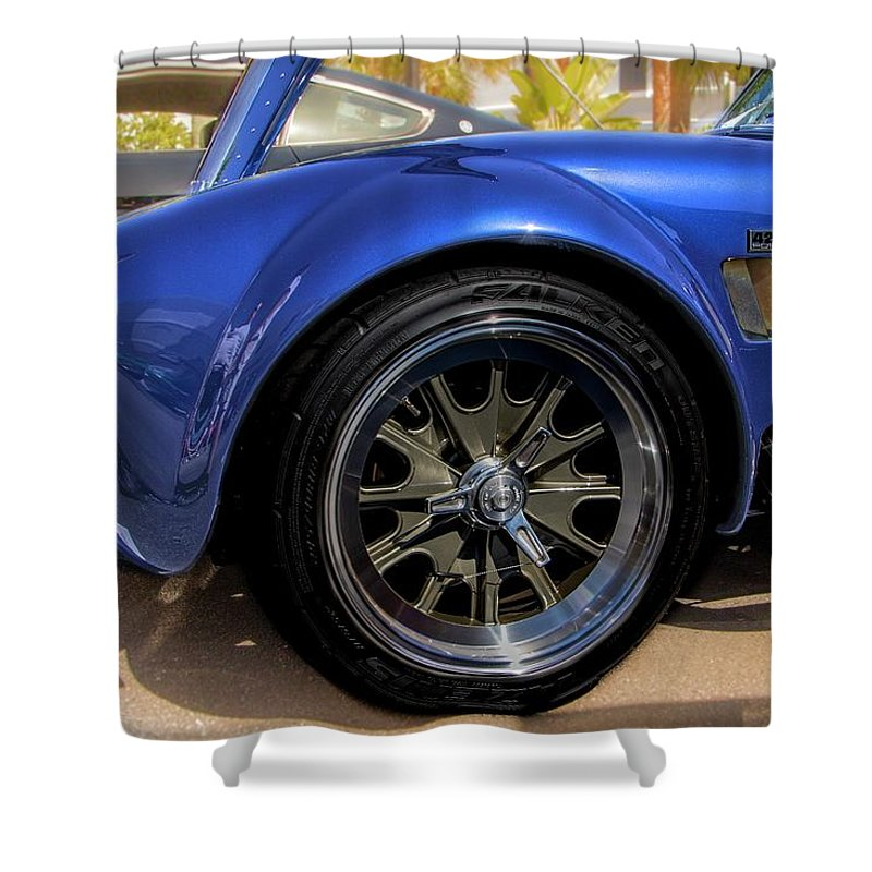 427 Shower Curtain featuring the photograph Blur 427 Cobra by James Markey