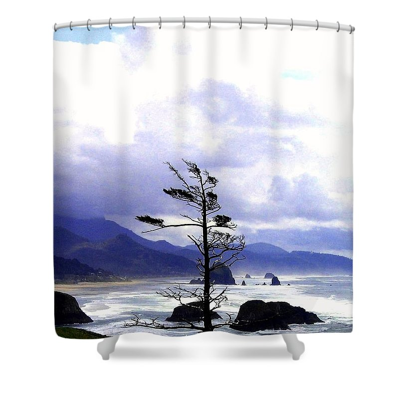 Blustery Shower Curtain featuring the photograph Blustery by Will Borden