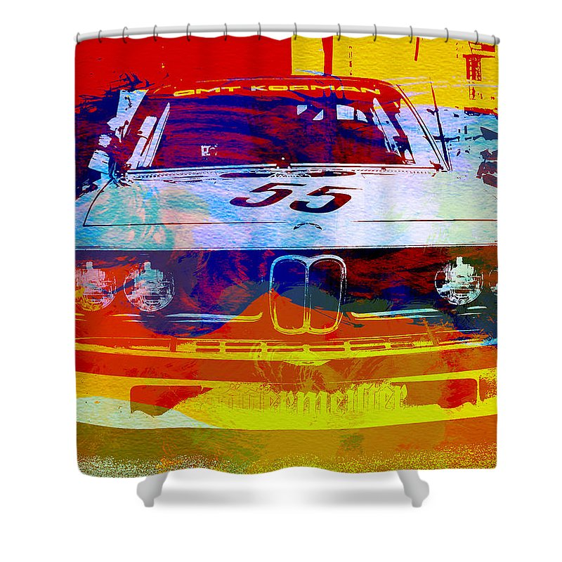 Shower Curtain featuring the photograph Bmw Racing by Naxart Studio