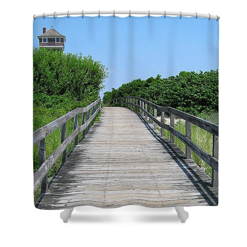Boardwalk Shower Curtain featuring the photograph Boardwalk by Colleen Kammerer