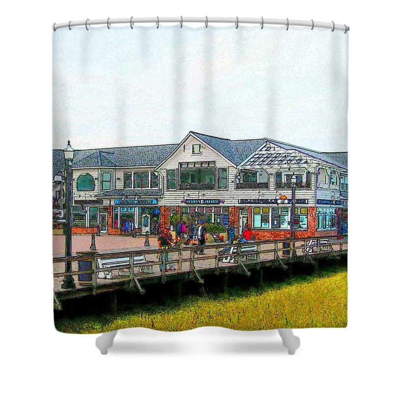 Bethany Beach Shower Curtain featuring the photograph Boardwalk Fries by Jeffrey Todd Moore