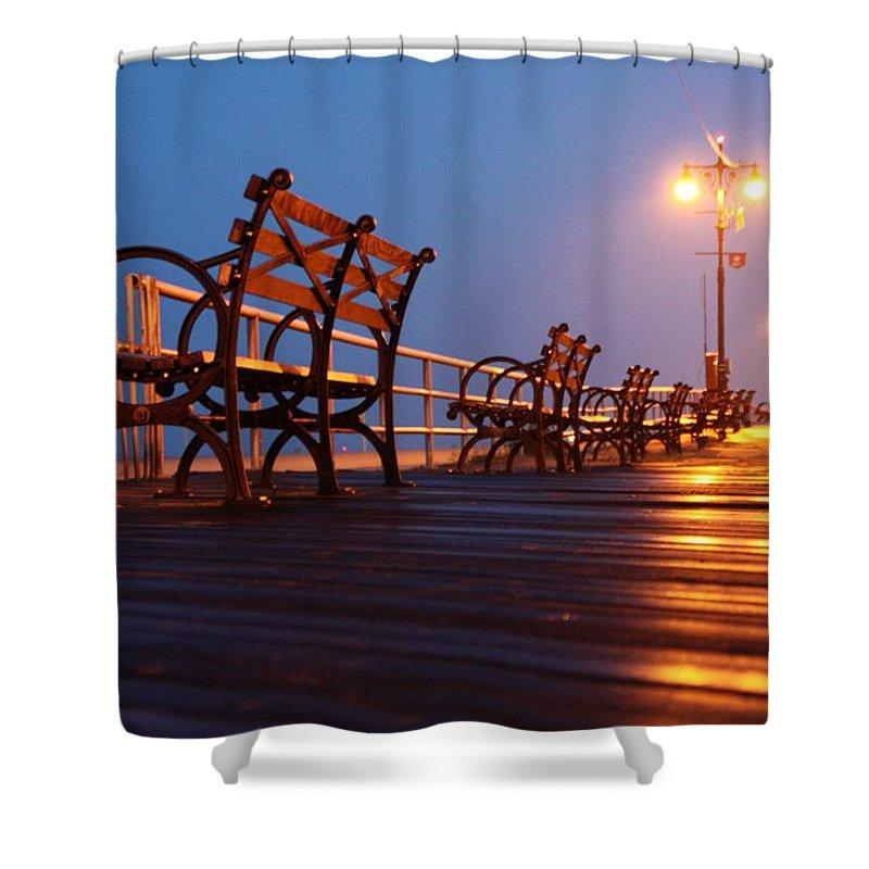 Boardwalk Shower Curtain featuring the photograph Boardwalk by Mitch Cat
