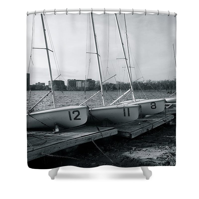 Boats Shower Curtain featuring the photograph Boat Club #1 by Julian Grant