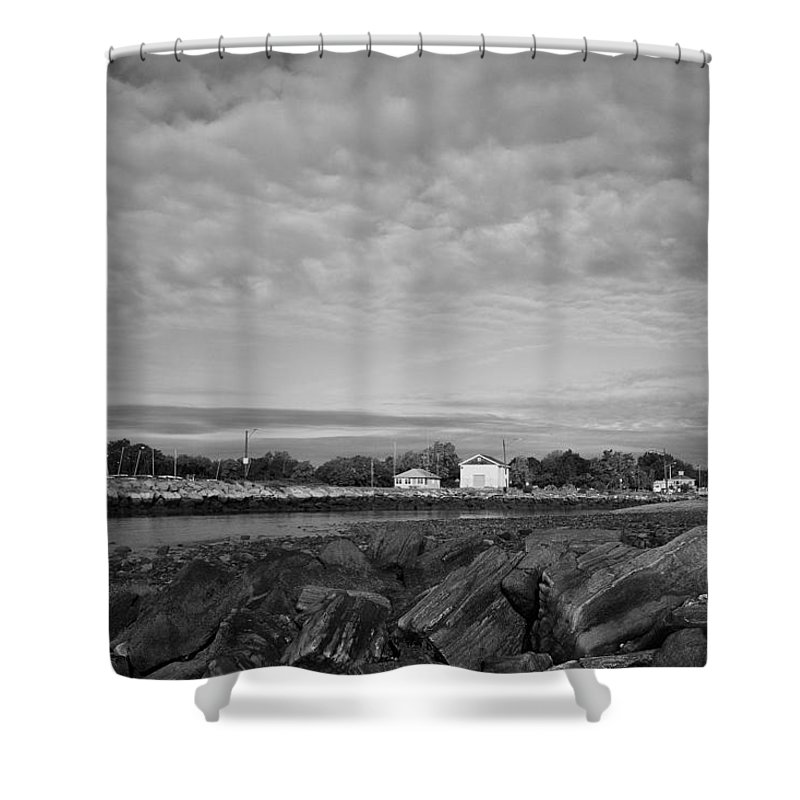 Boat House Shower Curtain featuring the photograph Boat Houses by Stephanie McDowell