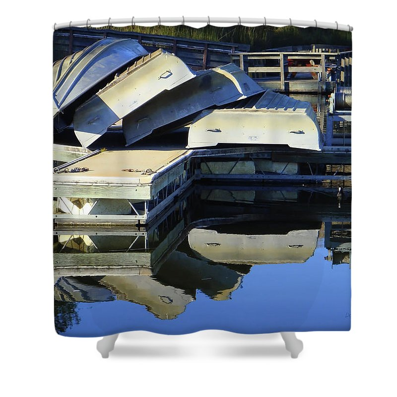Water Shower Curtain featuring the photograph Boating Incident by Donna Blackhall