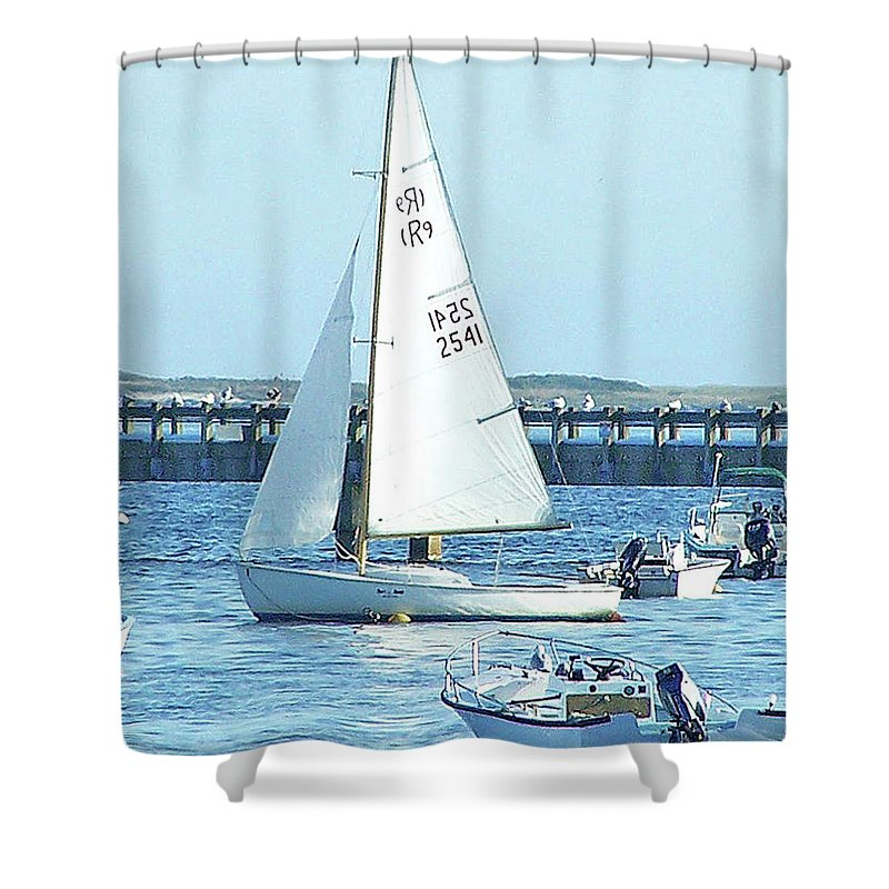 Boats Shower Curtain featuring the photograph Boats At Provincetown by Marilyn Holkham
