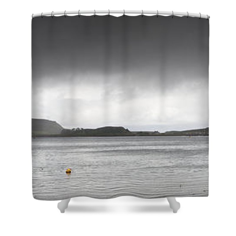 Moored Shower Curtain featuring the photograph Boats Moored In The Harbor Oban by John Short