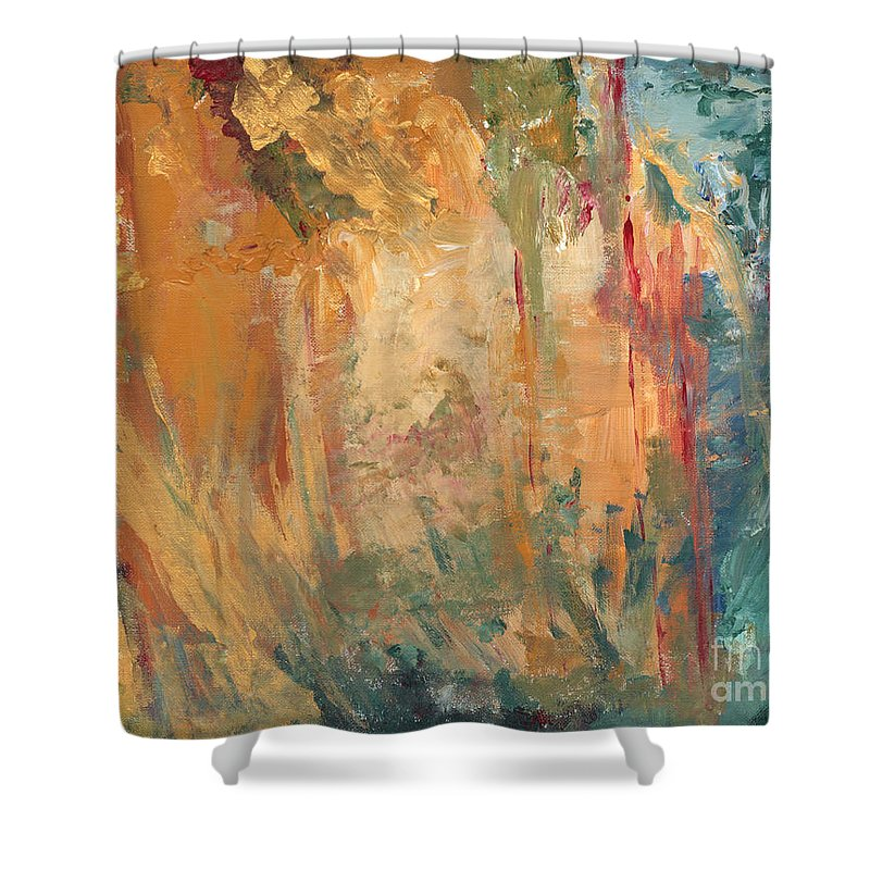 Abstract Painting Shower Curtain featuring the painting Bob by Jaime Becker