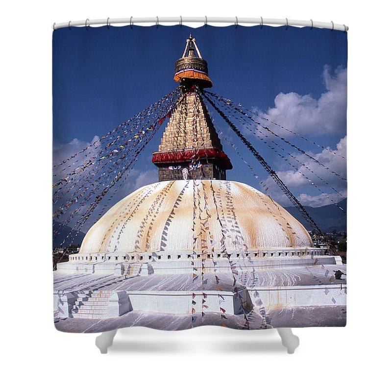 Bodhnath Stupa Shower Curtain featuring the photograph Bodhnath Stupa by Patrick Klauss