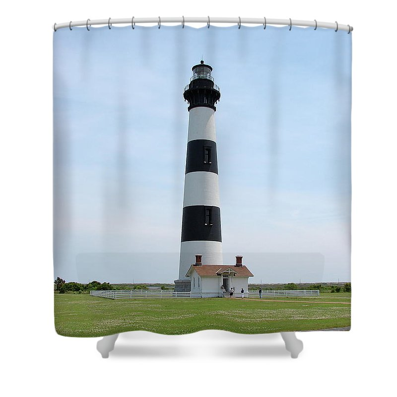 Bodie Lighthouse Shower Curtain featuring the photograph Bodie Lighthouse Nags Head Nc II by Brett Winn