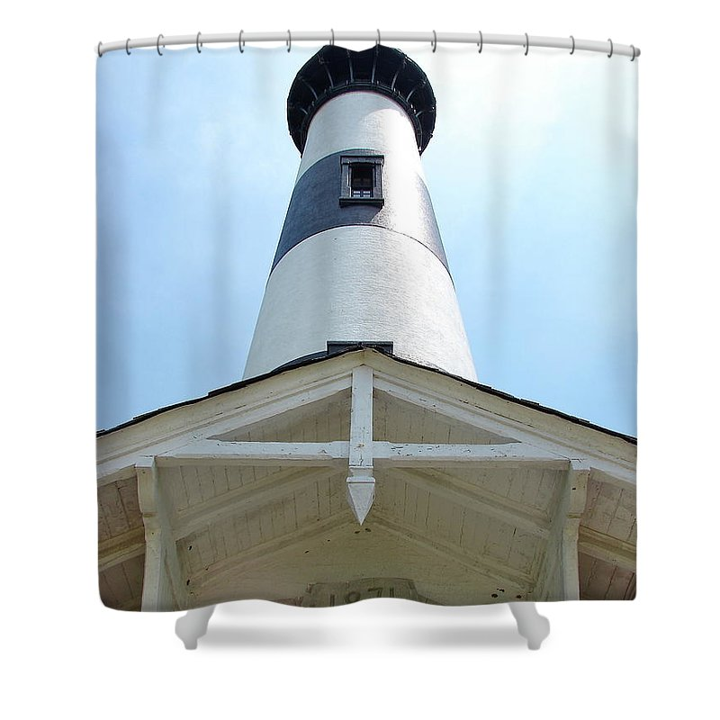 Bodie Lighthouse Shower Curtain featuring the photograph Bodie Lighthouse Nags Head Nc IIi by Brett Winn