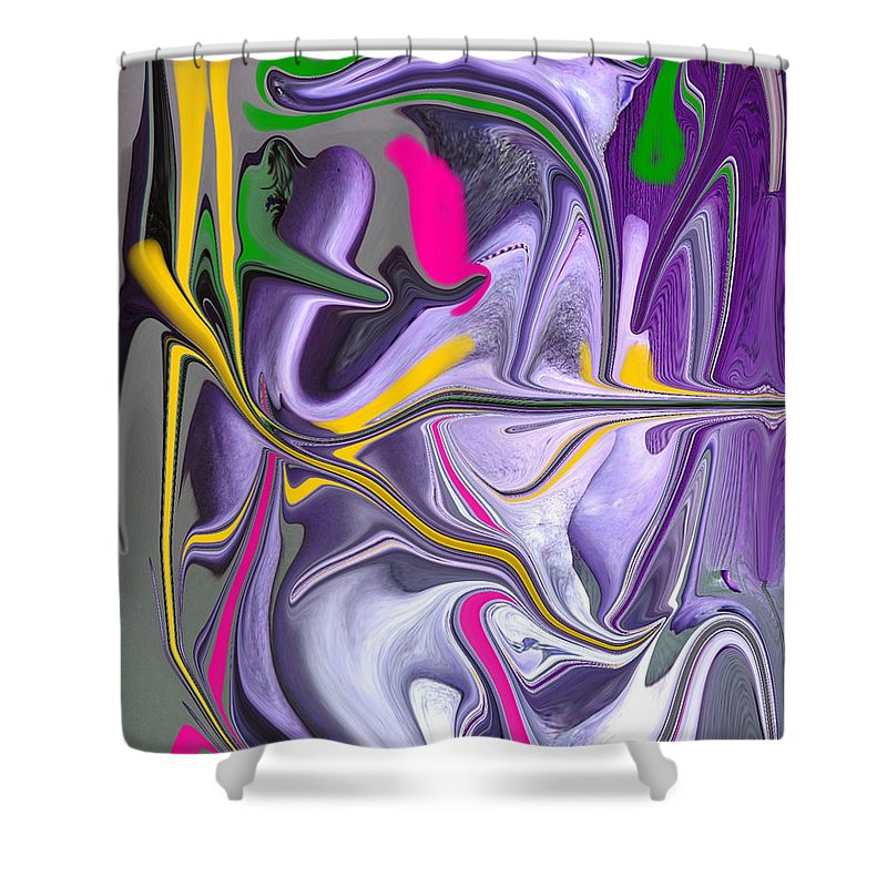 Abstract Shower Curtain featuring the photograph Body Language by Allan Hughes
