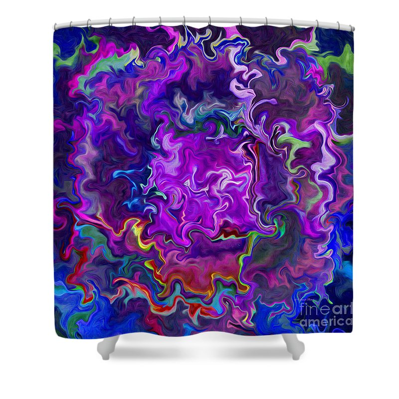 Abstract Shower Curtain featuring the painting Bold Contrasts by Deborah Benoit