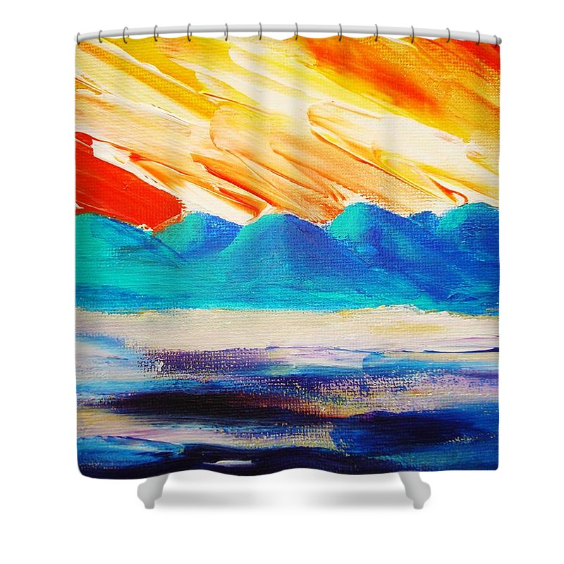 Bright Shower Curtain featuring the painting Bold Day by Melinda Etzold