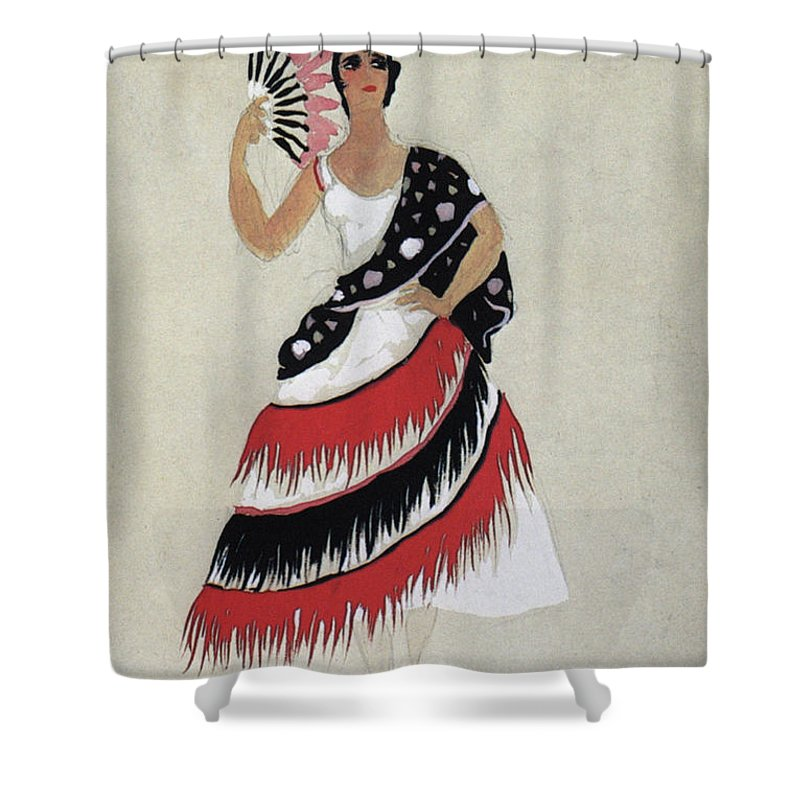 1941 Shower Curtain featuring the photograph Bolero Costume by Granger