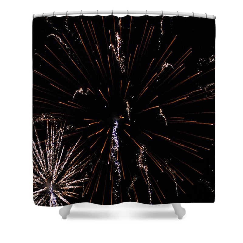 Firwworks Shower Curtain featuring the photograph Bombs2 by David Lane
