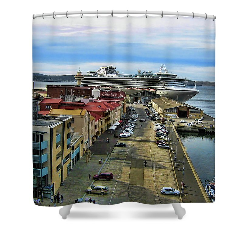 Ship Shower Curtain featuring the photograph Bon Voyage by Douglas Barnard