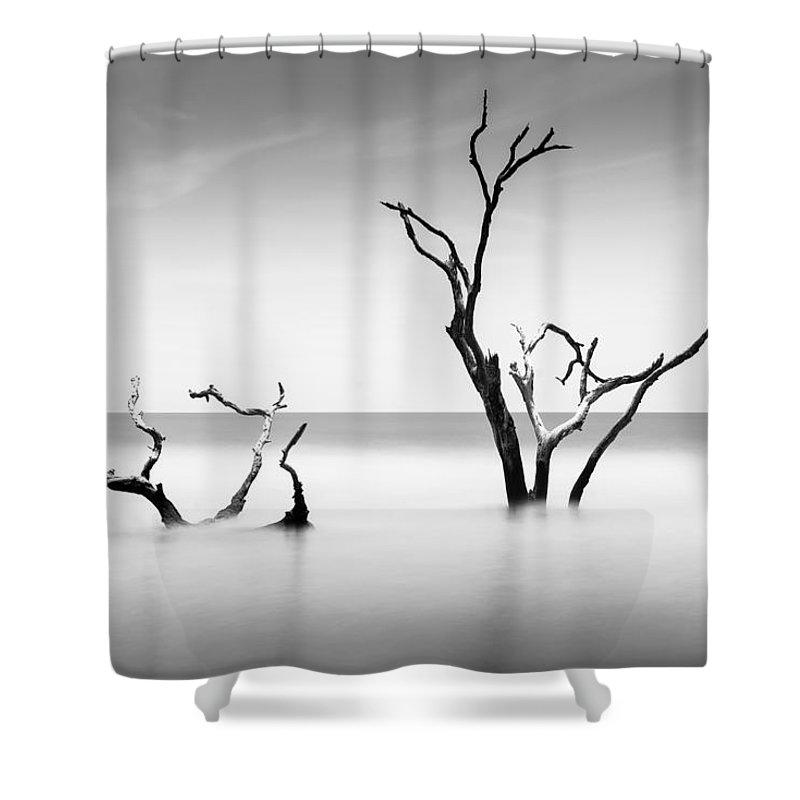 Bulls Island Shower Curtain featuring the photograph Boneyard Beach Viii by Ivo Kerssemakers
