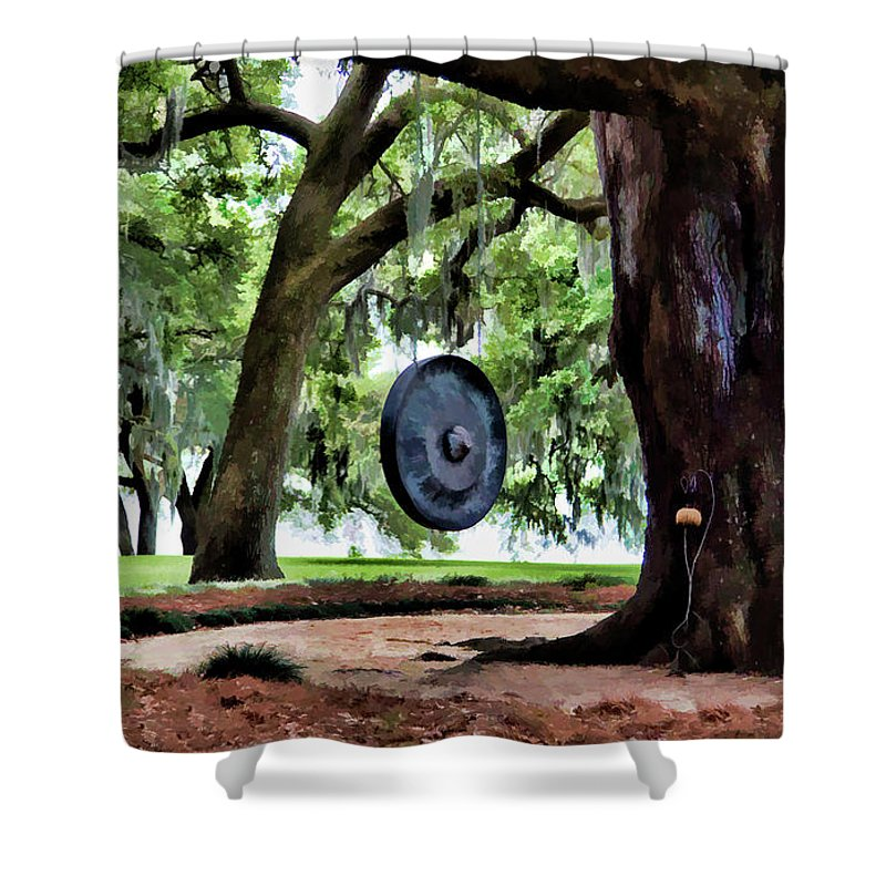 Landscape Shower Curtain featuring the photograph Bonggggg Rip Van Winkle Gardens Paint by Chuck Kuhn