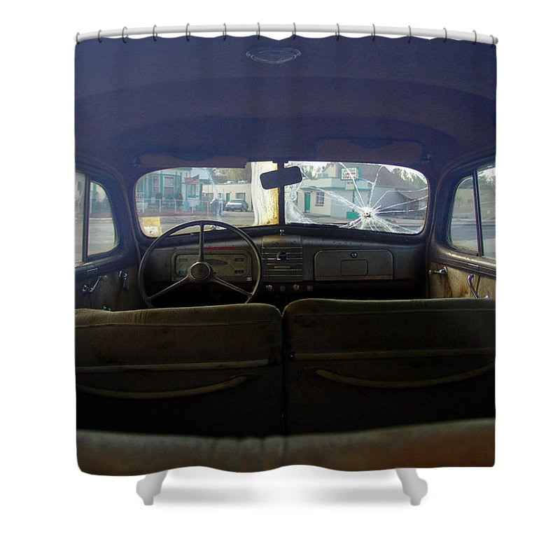 Classic Cars Shower Curtain featuring the photograph Bonnie and Clyde by Carol Milisen