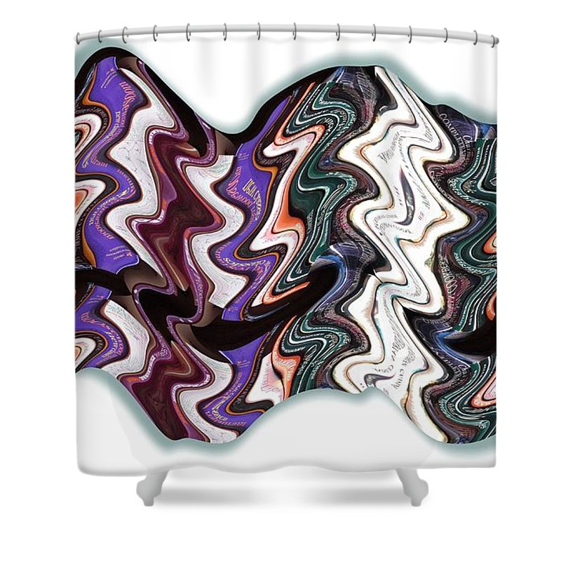 Books Shower Curtain featuring the digital art Book Case by Ron Bissett