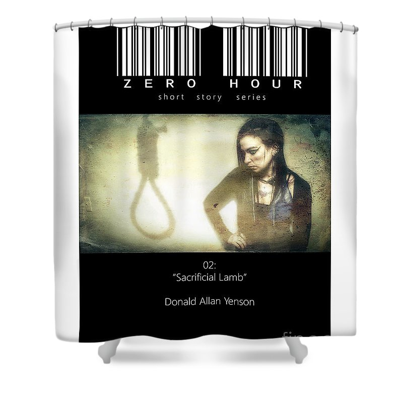 Horror Shower Curtain featuring the photograph Book Cover V by Donald Yenson