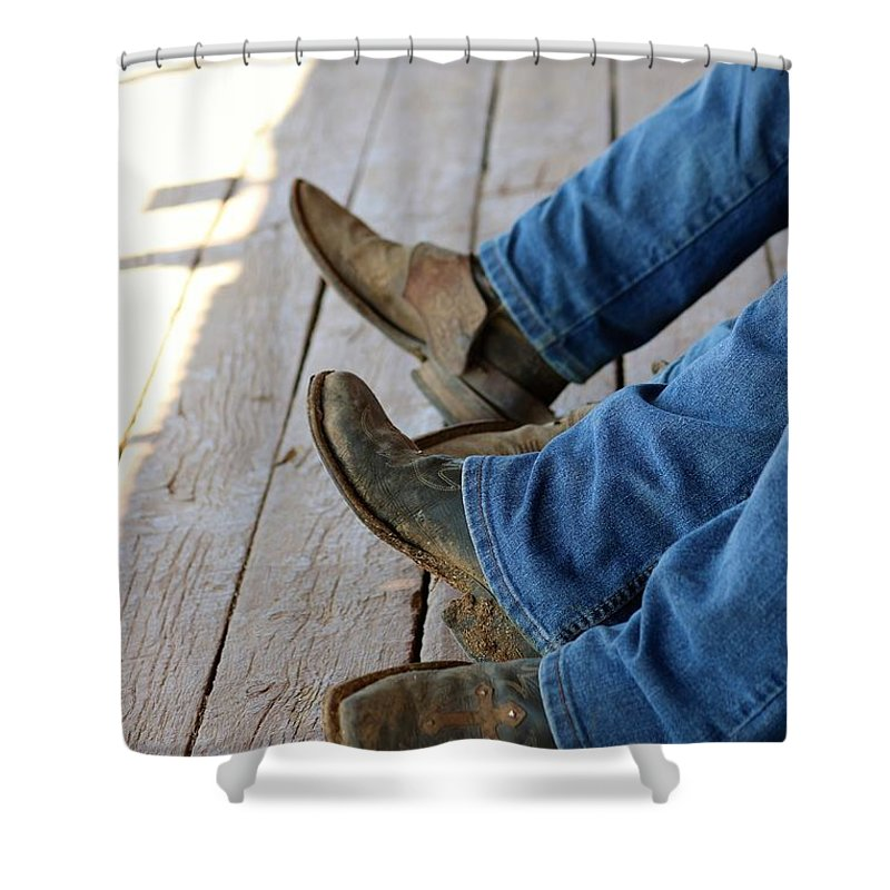 Cowboy Shower Curtain featuring the photograph Boots by Lisa Spero