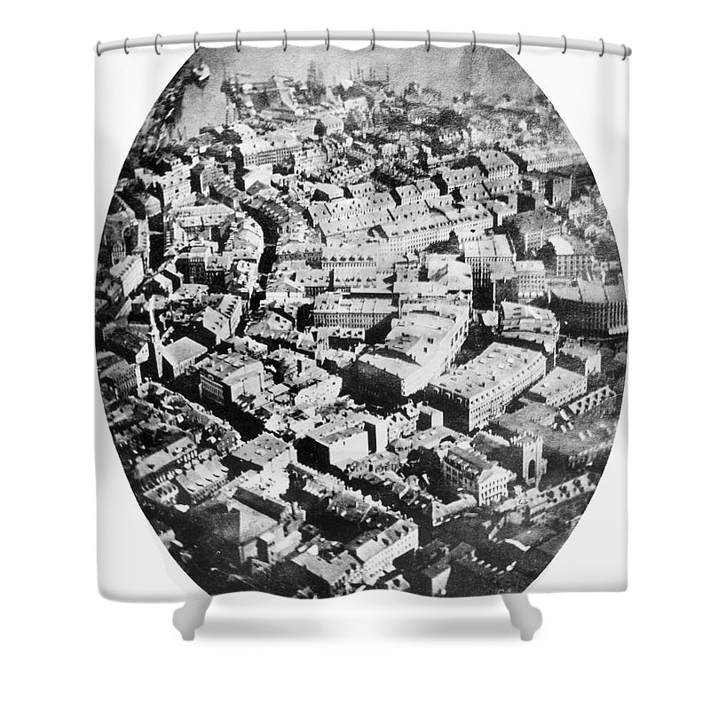 1860 Shower Curtain featuring the photograph Boston 1860 by Granger