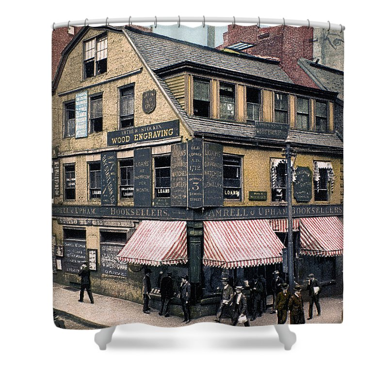 1900 Shower Curtain featuring the photograph Boston: Bookshop, 1900 by Granger