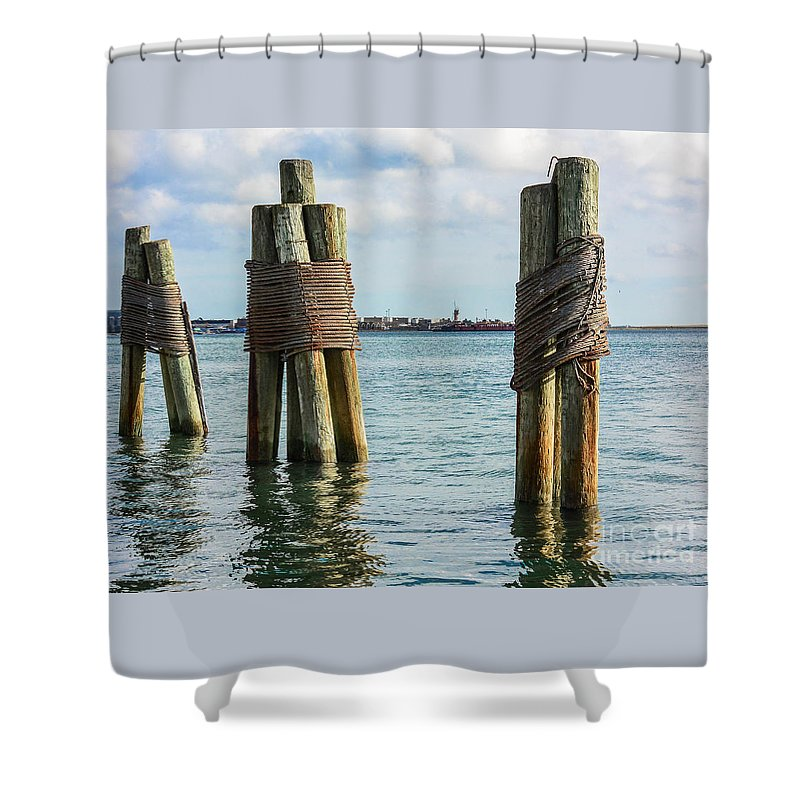 Boston Shower Curtain featuring the photograph Boston's Harbor by Lisa Kilby