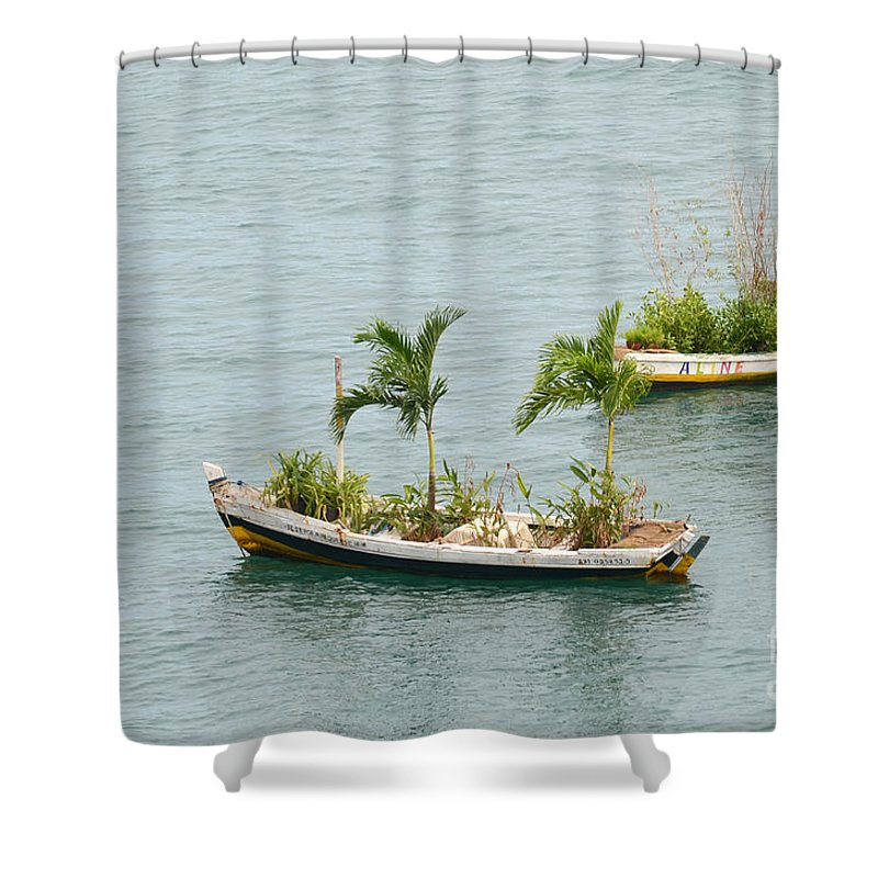 Salvador Shower Curtain featuring the photograph Botanic Garden On The Water by Ralf Broskvar