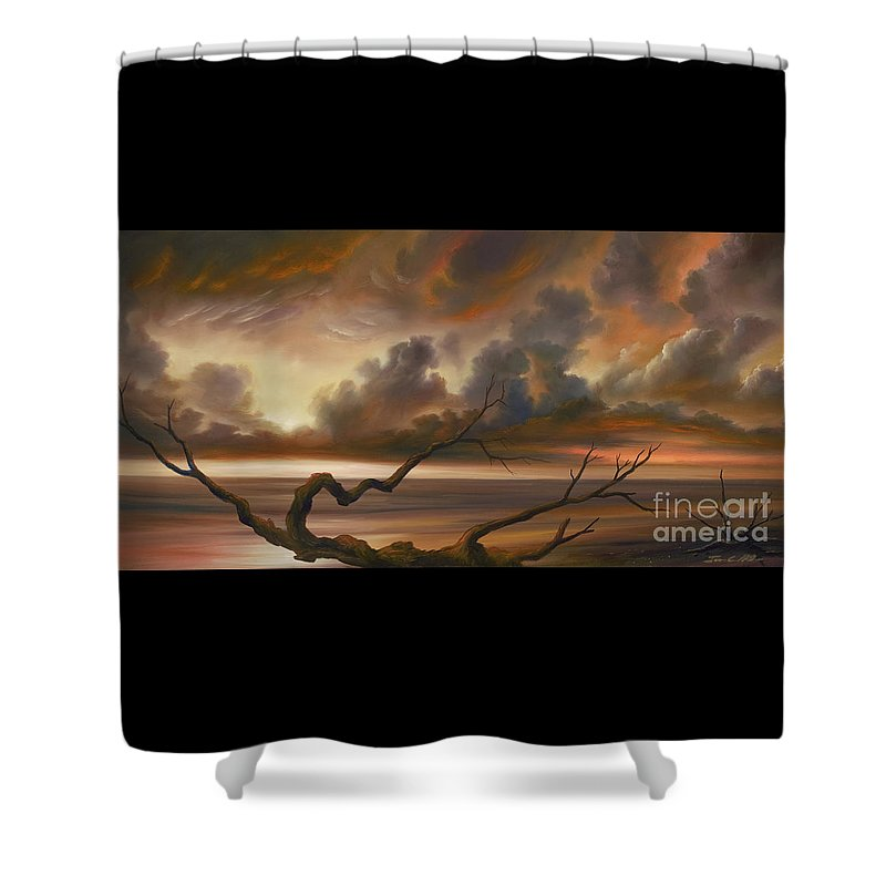 Ocean Shower Curtain featuring the painting Botany Bay by James Christopher Hill