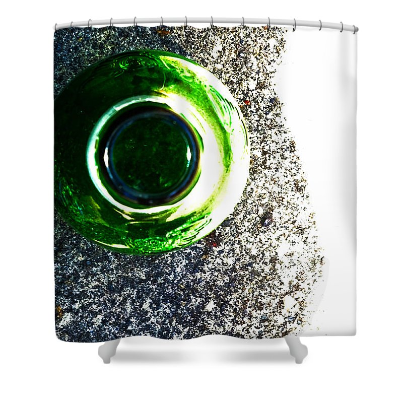 Bottle Shower Curtain featuring the photograph Bottle On The Street by Leah Stark