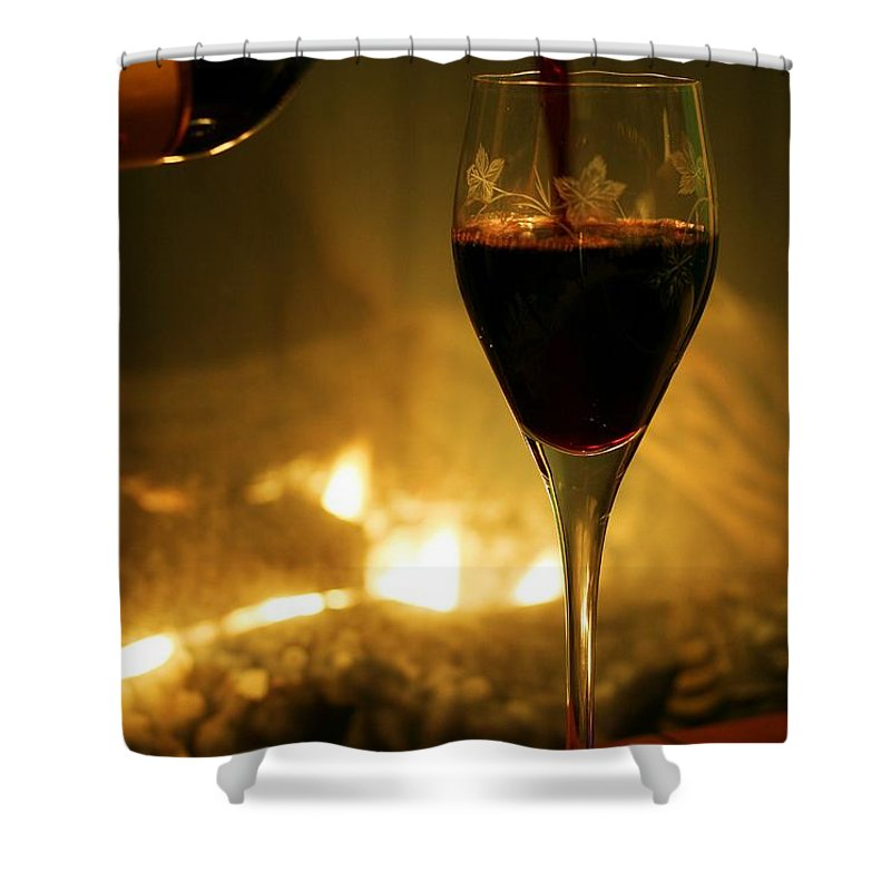 Wine Shower Curtain featuring the photograph Bottled Poetry by Mitch Cat