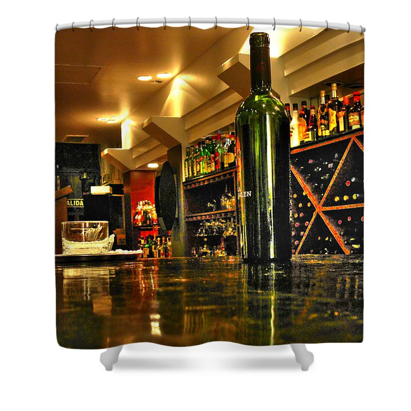 Wine Shower Curtain featuring the photograph Bottles Of Wine by Francisco Colon