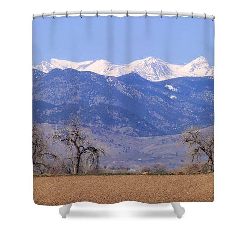 Boulder Shower Curtain featuring the photograph Boulder County Colorado Panorama by James BO Insogna