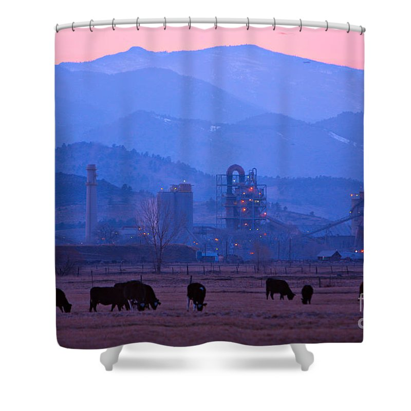 Boulder Shower Curtain featuring the photograph Boulder County Industry Meets Country by James BO Insogna