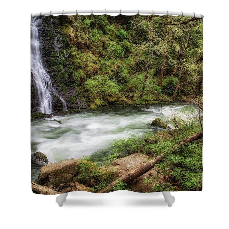 Boulder Falls Shower Curtain featuring the photograph Boulder River by Charlie Duncan