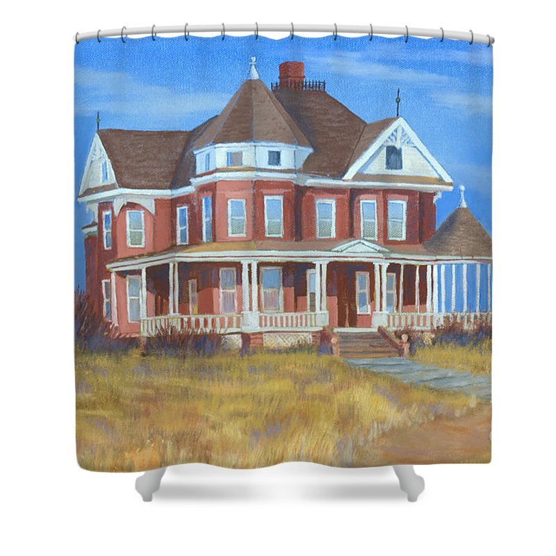 Boulder Shower Curtain featuring the painting Boulder Victorian by Jerry McElroy