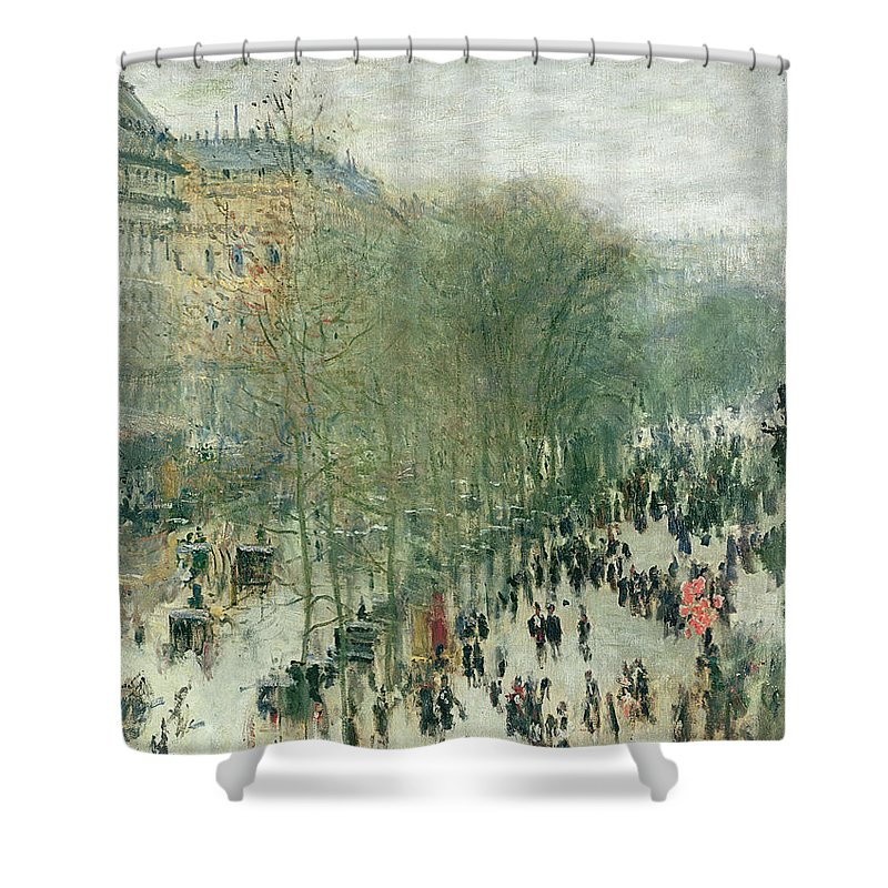 Boulevard Shower Curtain featuring the painting Boulevard Des Capucines by Claude Monet