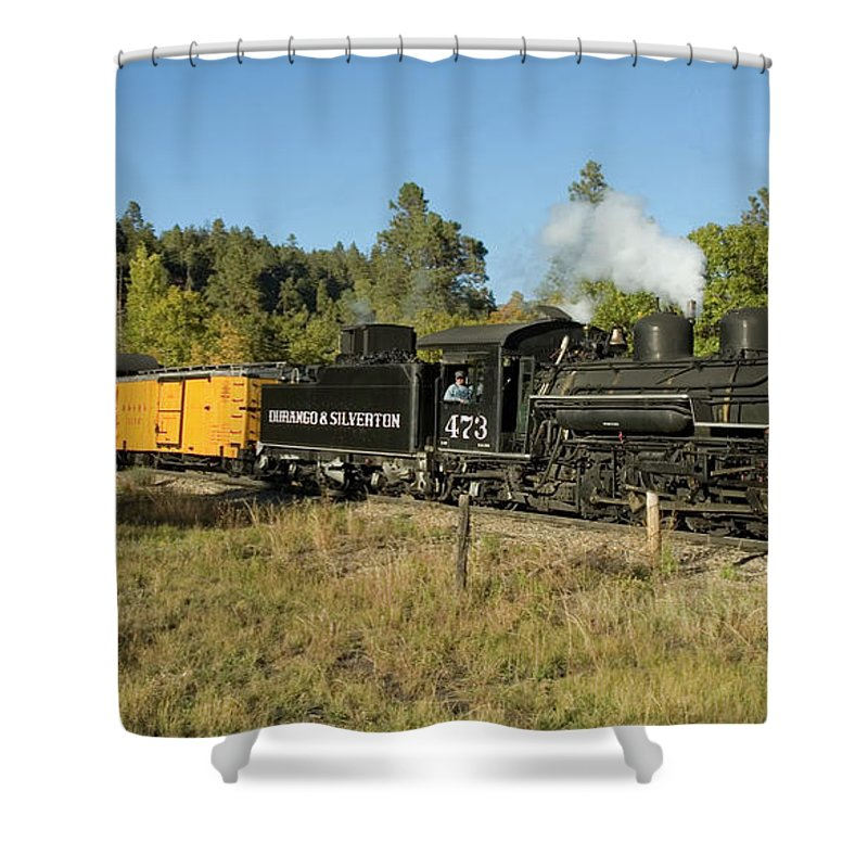Durango Shower Curtain featuring the photograph Bound For Durango by Jerry McElroy