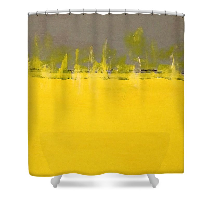 Landscape Shower Curtain featuring the painting Boundary Lines by Michael Daly