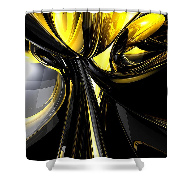 3d Shower Curtain featuring the digital art Bounded By Light Abstract by Alexander Butler