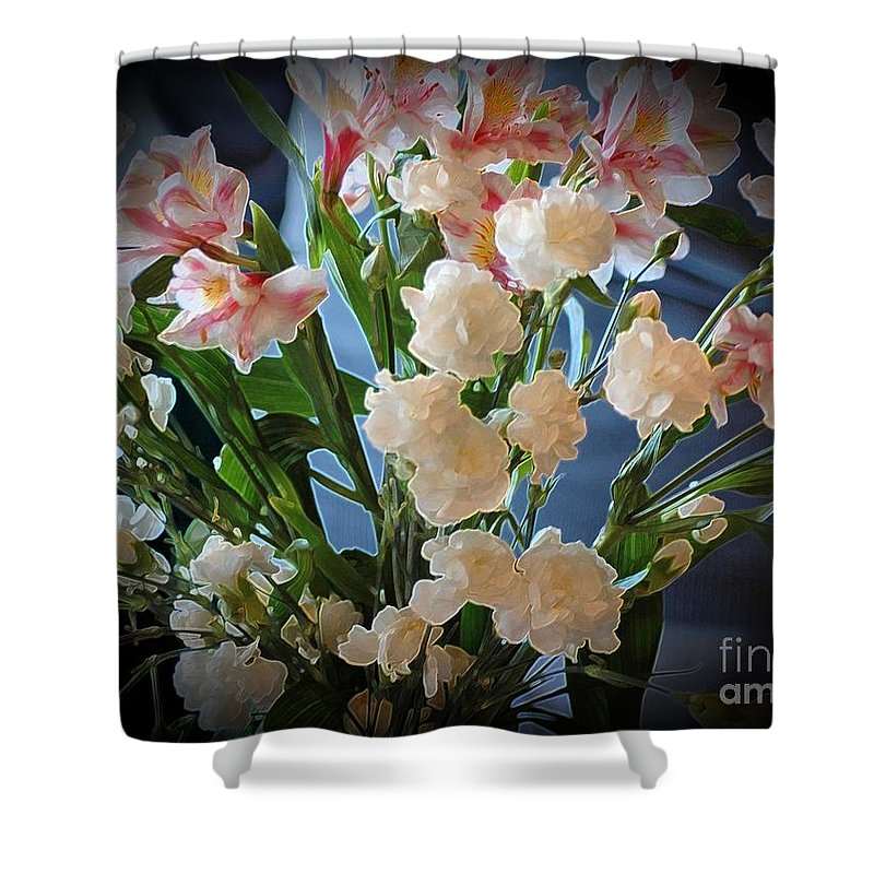 Flower Shower Curtain featuring the photograph Bouquet Of Flowers by Kathleen Struckle