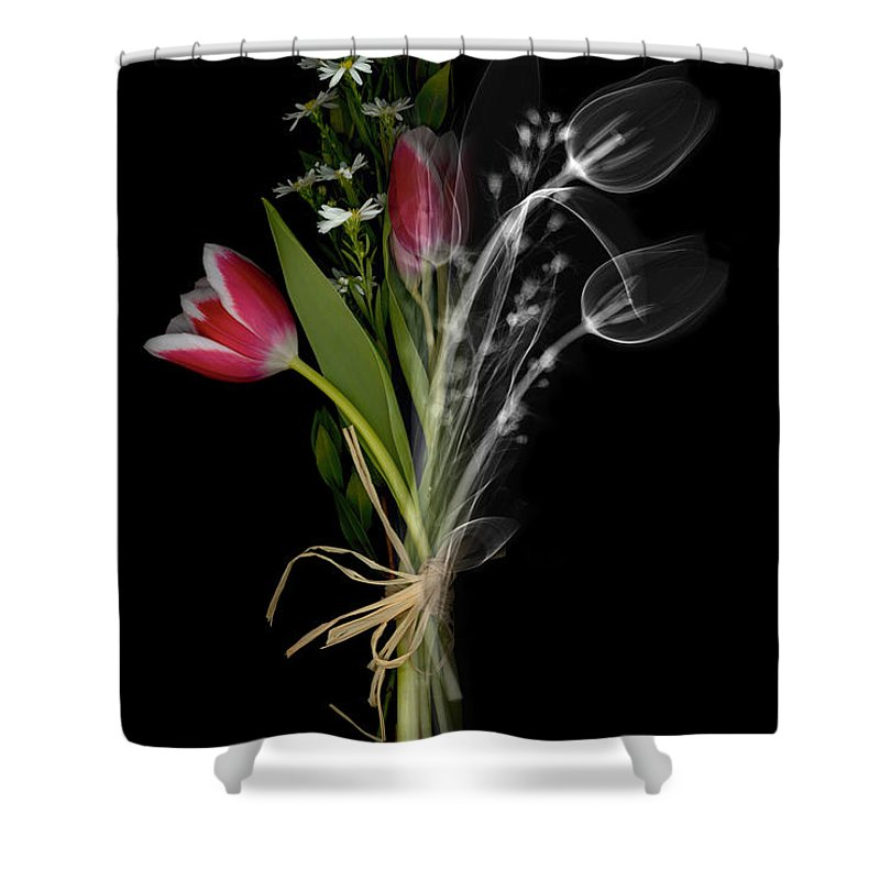 X-ray Shower Curtain featuring the photograph Bouquet X-ray by Ted Kinsman