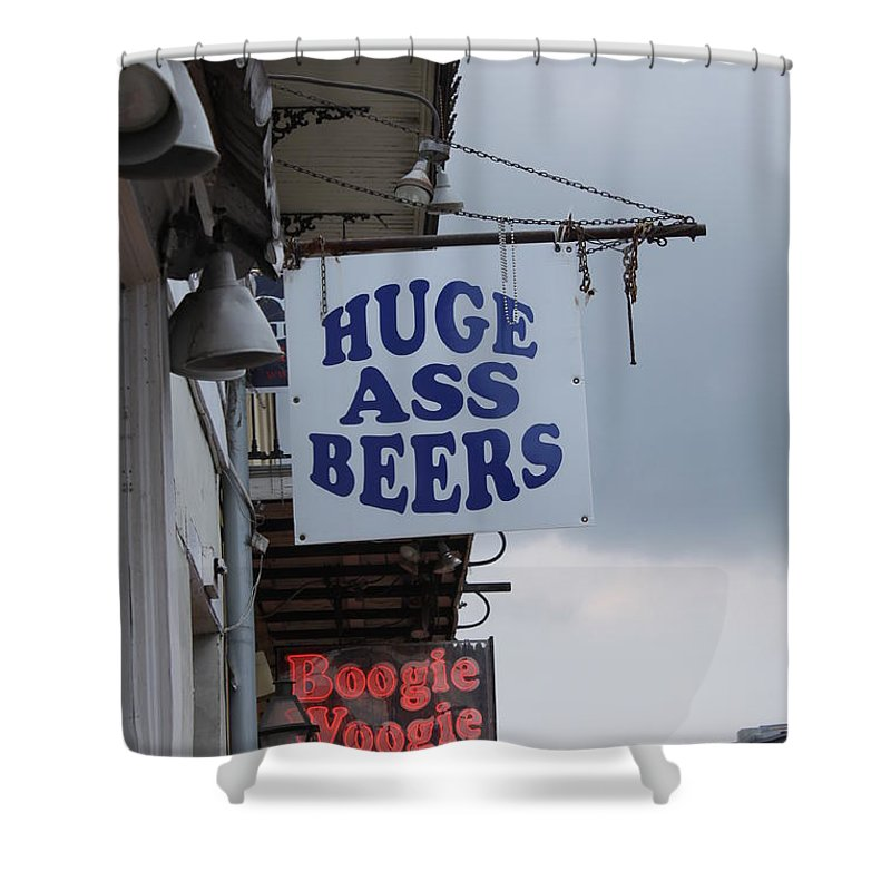 New Orleans Shower Curtain featuring the photograph Bourbon Street Signs by Lauri Novak