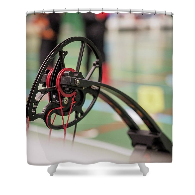 Bow Shower Curtain featuring the photograph Bow by Hector Lacunza