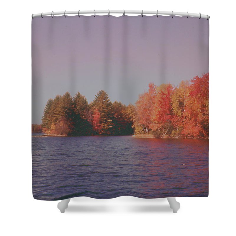 New Hampshire Shower Curtain featuring the photograph Bow Lake New Hampshire Autumn Colors by Ron Swonger