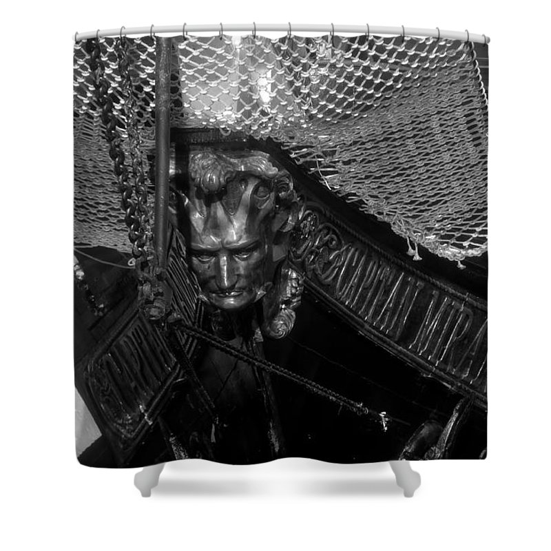 Captain Miranda Shower Curtain featuring the photograph Bow Of The Captain Miranda by David Lee Thompson