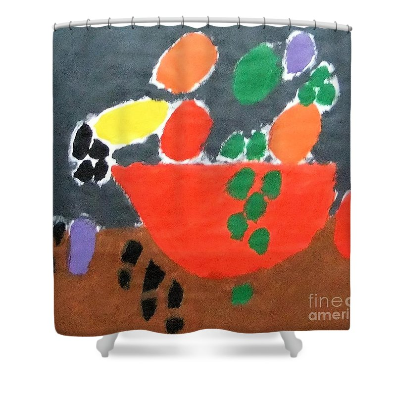 Patrick Francis Shower Curtain featuring the painting Bowl Of Fruit by Patrick Francis